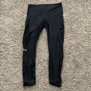Capri black underarmour leggings with mesh on back